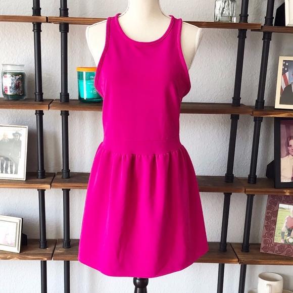 Lulu's Dresses & Skirts - LULU'S | HOT PINK | SKATER DRESS | SIZE MEDIUM EUC